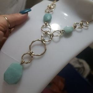 Beautiful glass stone necklace